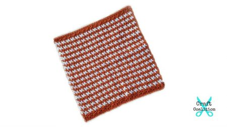 Pumpkin Spice Washcloth crochet pattern | CraftCoalition.com