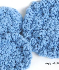 """Poofy Spa crochet Washcloth pattern - """"Cotton Ball"""" 