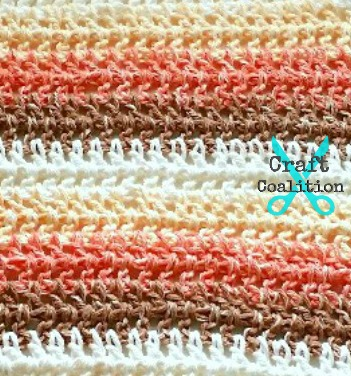 Shades of Sugar n Cream Washcloth crochet pattern | CraftCoalition.comShades of Sugar n Cream Washcloth crochet pattern | CraftCoalition.com
