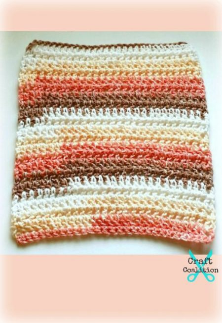 Shades of Sugar n Cream Washcloth crochet pattern | CraftCoalition.com