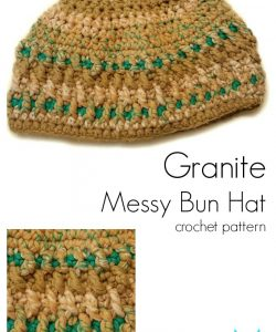 Granite Messy Bun Hat 2-in-1 by Mistie Bush for CraftCoalition.com