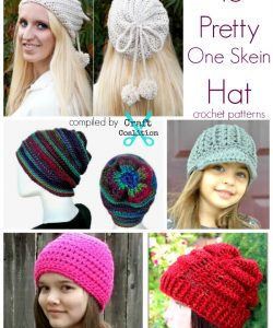 16 Pretty One Skein Hat crochet patterns | CraftCoalition.com