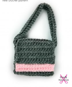 My Dolly Edgy Messenger Bag, free crochet pattern on CraftCoalition.com